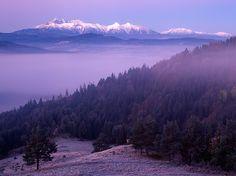 High Tatras shot from Lesnicke sedlo, Slovakia by Marek Potoma