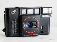 Cosina CX7 - Rare functional vintage 35mm film analog camera for lomography, compact point and shoot for street photography + built-in flash