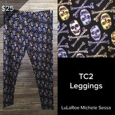11a13b92f5bc5d LuLaRoe Skull and Cross Bones Halloween Leggings in TC2! Visit my LuLaRoe  Facebook Shopping Group