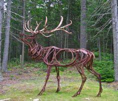 """Wendy Klemperer; Metal, 2008, Sculpture """"Large Calling Elk"""""""