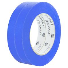 Universal Premium Blue Masking Tape with Bloc-it Technology, 18mm x 54.8m, Blue, 2/Pack