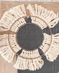 DIY OH MY How to make a tassel chandelier on a major budget Yarn Chandelier, Chandelier Makeover, Chandelier Lighting, Light Fixture Covers, Diy Light Fixtures, Boho Diy, Boho Decor, Solar Light Crafts, Macrame Wall Hanging Diy