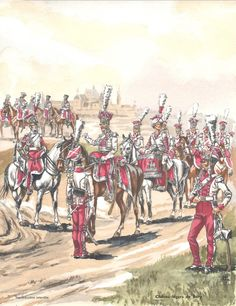 French; Imperial Guard, Chevau Legers de Berg. Raised by Murat when he was made the Grand Duke of Berg in 1807 as part of his household troops. In 1808 this unit was absorbed into the Imperial Guard and fought in Spain. The unit was short lived being absorbed into the Chasseurs a Cheval of the guard in early 1809.