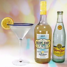 The Texas Tenor (Inspired by our favorite Tenor from Texas, Mitch Grassi of  Pentatonix)  Ingredients:  -1 1/2 oz #DeepEddy Lemon Flavored Vodka -Topo Chico Sparkling Mineral Water -Lemon Slice -Sunflower Sugar Art Disco Purple Night Edible Glitter  Method:  -Chill lemon flavored Deep Eddy Lemon Flavored Vodka and #TopoChico Mineral  Water -Rim a martini glass with Sunflower Sugar Art Disco Purple Night Edible  Glitter in the same manner that you would rim a salted margarita glass -Pour…