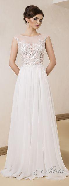 Suknie Ślubne Adria - 1409 love the needs a different bottom Elegant Wedding Dress, Dream Wedding Dresses, Bridal Dresses, Wedding Gowns, Bridesmaid Dresses, Beautiful Gowns, Dream Dress, Bridal Collection, Wedding Styles
