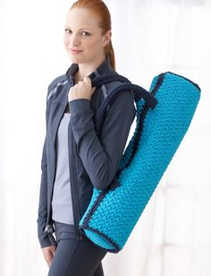 free crochet  pattern from   Yarnspirations.com - Bernat Namaste Yoga Mat Bag - Patterns  | Yarnspirations