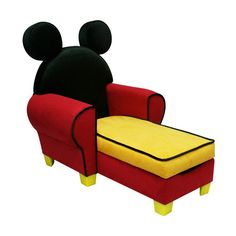 Walmart.com: Disney Mickey Mouse Chaise With Storage: Kidsu0027 U0026 Teen Rooms  ($159) Found On Polyvore