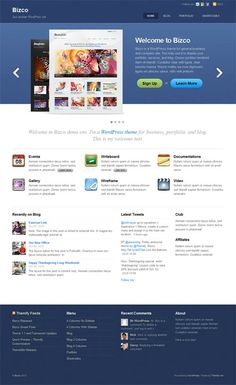 Bizco WordPress Theme is a professional premium WordPress business theme from Themify ideal for showcasing your business products or services. The theme includes multiple layout options (default, 3 columns, and 4 columns with or without sidebar), shortcode buttons & columns, featured slider, theme options panel, 6 theme skins and more.