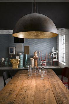 Lampade da interno e esterno Made in Italy in ottone, ferro, rame