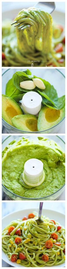 Healthy Recipe | Avocado Pasta. Easy, creamy avocado pasta that everyone will love. And it'll be on your dinner table in just 20 min!