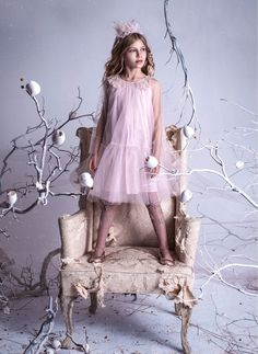 Tutu Du Monde Magic Mirror Dress in Tea Rose Young Fashion, Teen Fashion, Cute Girl Outfits, Kids Outfits, Fairy Costume For Girl, Tutu, Dressing Mirror, Magic Mirror, Children Photography