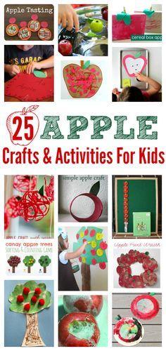 Apple crafts and activities for tot school, preschool, or just for fun!!