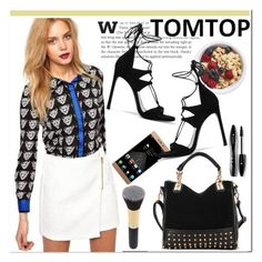 """""""TOMTOP +12"""" by aida-nurkovic ❤ liked on Polyvore featuring Lancôme, Stuart Weitzman, women's clothing, women, female, woman, misses, juniors, tomtop and tomtopstyle"""
