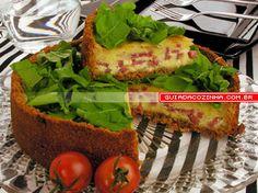 Receita de Torta de salame, queijo e rúcula - guia da cozinha
