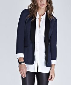 Take a look at this French Navy Jodie Blazer by Baukjen on #zulily today! $90 !!