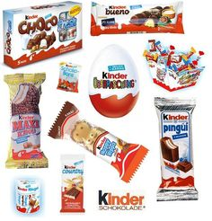 Kinder Schokolade...I miss the European version.  Can't buy the surprise eggs here for some reason :'(
