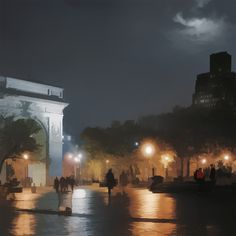 Evening - Washington Square