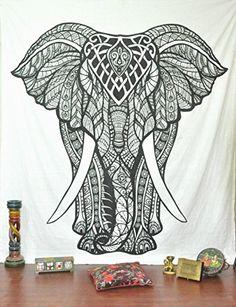 Jaipurhandloom Christmas Gift Elephant Tapestries Psychedelic Wall Hanging Elephant Tapestry Hippie Tapestry Wall Tapestries Bohemian Tapestries Indian Tapestry Wall Hanging by Jaipur Handloom, http://www.amazon.com/dp/B017YTQOJK/ref=cm_sw_r_pi_dp_MvPUwb1QCPK4W
