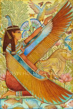 The Harvest Goddess Mistress Of Mabon by HollySierraArt on Etsy