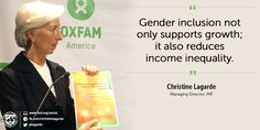 .@Lagarde on the relation between #gender inclusion & income #inequality