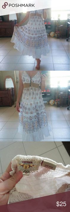 NWOT Beautiful Bohemian Dress. Was washed but never worn. Tags for exposure: victoria's secret, bebe, lilly pulitzer, all saints, free people, anthropology, herve leger, for love and lemons, wildfox, reformation, hill, wong, jovani, vuitton, fox, topshop, asos, gucci, missgiuded, balmain, kors, tobi, boohoo, bcbg, louboutin, nova Uasna Dresses Maxi