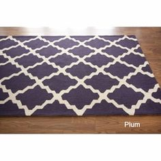 $283 - Overstock rug in plum. I love it in grey, too, but it's not available right now. This is TOP on my list! *This looks superb in our living room :)