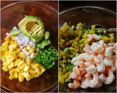 Mangoes and Palm Trees: Grilled Pineapple, Jalapeno, & Shrimp Ceviche with Fried Plantains