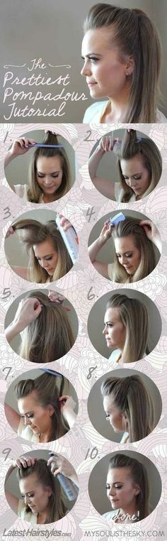 The cheerleader bump. | Simple Hair Tricks #simple #cute #bump