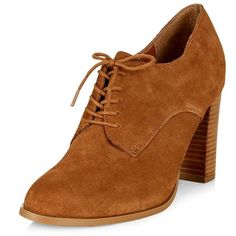 Tan Suede Lace Up Pointed Toe Ankle Boots ($54) ❤ liked on Polyvore featuring shoes, boots, ankle booties, heels, tan, tan booties, tan suede booties, suede bootie, heeled booties and suede lace up booties