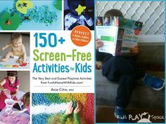 Kids Play Space reviews the book: 150+ Screen-Free Activities for Kids by Asia Citro (Fun at Home with Kids), including Hatching Dino Egg Bath Bombs!!