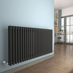 IN STOCK: best prices on Bern 615 x Anthracite Double Horizontal Column Radiator - choose between 482 Central heating steel radiators Column Radiators, Modern Radiators, Bedroom Radiators, Kitchen Radiator, Central Heating Radiators, Heating And Plumbing, Hallway Wall Decor, House Extension Design, Water House