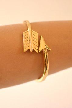 New Age Queen - Gold Arrow Wrap Bracelet