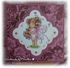 handmade card - pink fairy