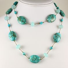Are you a late December baby who always gets lost in the holiday shuffle? Here's a turquoise necklace just for you. We have a nice selection of turquoise and other December birthstones, such as tanzanite and blue topaz. Stop by our store in Westbury!