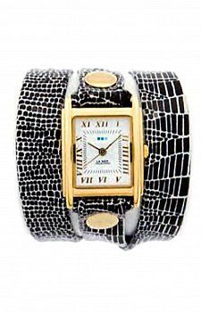 LA MER COLLECTIONS ANIMAL PRINT WRAP WATCH