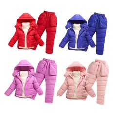 52.49$  Buy now - http://aliupr.worldwells.pw/go.php?t=32692337771 - Fashion 2016 winter kids duck down clothing sets outdoor warm coats high quality jacket coat  for children snowsuits 7 colours 52.49$