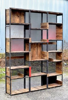 Industrial Pallets and Steel Shelves | YES visit stonecountyironworks.com for more wrought iron designs!