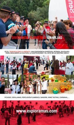 Mucho duende, mucho arte, mucha diversión. Casi 300 personas han disfrutado del Team Building Flamenco en la Costa del Sol, otra de las grandes experiencias que hemos organizado esta semana. Con el hermoso pueblo de Mijas como escenario privilegiado, una veintena de exploradores y un montaje sensacional, los participantes se entregaron a la diversión con las Sevillanas, la Percusión, la prueba de la Sangría, el reto de Picasso, el Carnaval, el desafío de Wine Tasting, el Gazpacho…