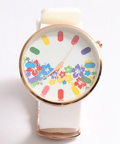 Take a look at this RUBR White Flower Watch on zulily today!