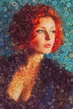 Lesia Patoka buttons portrait by Arseny Samolevsky