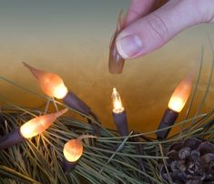 Looking for a fun way to transform your ordinary string of lights? The Old World Flame Pop-On looks like an old wax top candle and emits a nice warm glow when lit. The Primitive Butterscotch is slightly darker when lit and looks awesome with your primitive decor.Simply slip any of our popons over the bulb to create your very own unique look. The PopOns never burn out or wear out, all you have to do is change light strands. Sold in bags of 20.