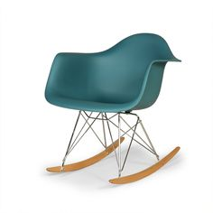 RAR Molded Plastic Rocking Chair-Navy Green 4