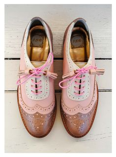 ABO pink brogues #abo #shoes #brogues #oxfords #pastels ♦F&I♦