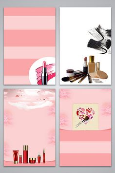 Pink cosmetics beauty makeup poster background image#pikbest#backgrounds