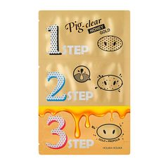 Discover the Holika Holika Pig Nose Clear Black Head 3-Step Kit, an easy-to-use and convenient kit that removes pesky blackheads in 3 steps and improves skin texture. 1 Step - Naturally derived honey extract and AHA complex help melt the blackheads and whiteheads. 2 Step - Red pine charcoal removes blackheads with strong absorbing power, while honey and propolis extract nourishes and protects the skin. 3 Step - Formulated with 24K gold and Penta Honey Gold to soothe and nourish the sensitive por Causes Of Blackheads, Remove Blackheads From Nose, Get Rid Of Blackheads, Best Blackhead Remover, Korean Beauty Brands, Tighten Pores, Nose Strips, Vitis Vinifera, Honey