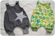 Cute infant overalls, might be easy enough to copy from the picture?  Trace-a-baby?