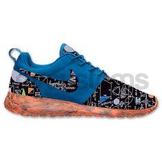 Nike Roshe Run Blue Orange Marble School Math Genius Custom on Etsy, $195.00