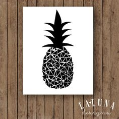 #Pineapple Print, Black and White