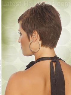 Textured Short Pixie Haircut for Women