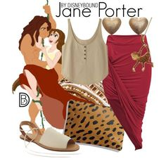 Go wild in a Jane Porter from Tarzan outfit. Need that skirt Disney Character Outfits, Cute Disney Outfits, Disney Dress Up, Disney World Outfits, Disney Themed Outfits, Disneyland Outfits, Character Inspired Outfits, Cute Outfits, Movie Outfits